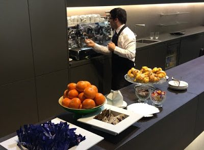 Catering Fiere Atmospherae Bologna stand Duravit buffet