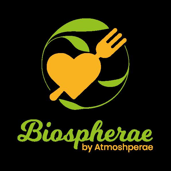 Il logo di Biospherae il servizio di catering biologico di Atmospherae