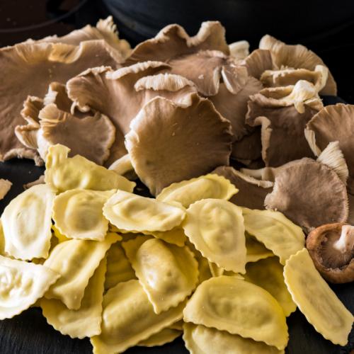 Ravioline ai funghi Atmospherae Catering Bologna