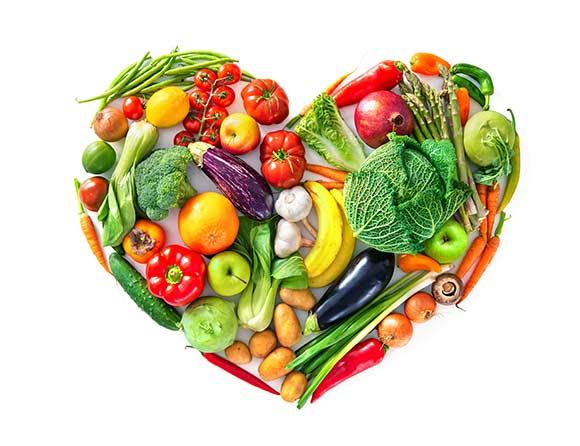 Un cuore di verdure biologiche