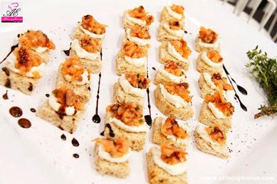 immagine di un nostro piatto di finger food creato dal nostro chef per la fiera tube dusseldorf